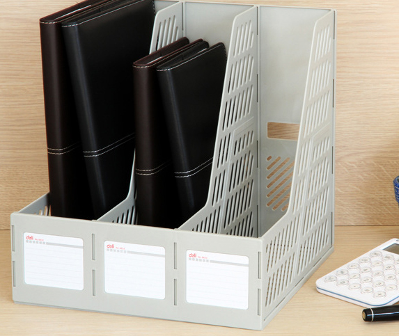 Multi-layer stack can no flash creative Office desktop storage box File storage rack box A4 folder Shelves
