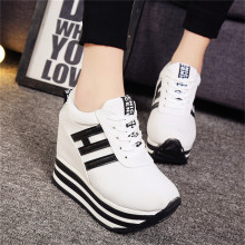 Rimocy high flat platform 9cm Height Increasing Casual Shoes