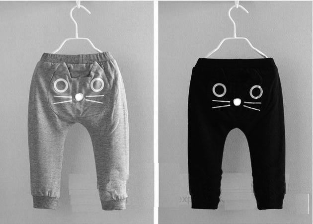 2016 gyermek fiúk Lányok őszi nadrág Cartoon Cat baba harem - Gyermekruházat - Fénykép 2