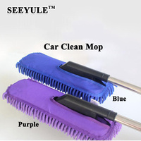 1pc SEEYULE Chenille Car Body Wash Mop Brush With Expandable Handle Duster Dirt Cleaner Washing Tool