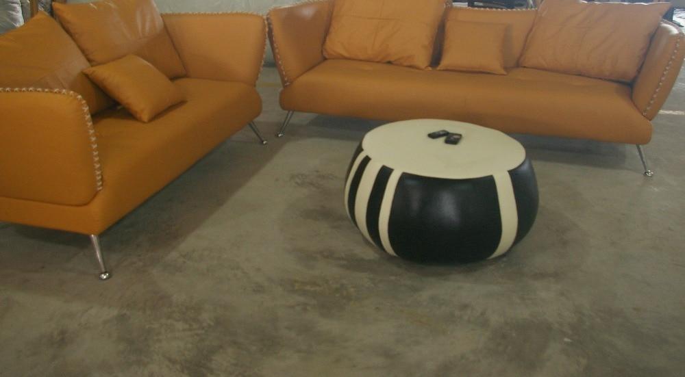 Casa sgabello e pouf mobili soggiorno cuoio genuino sgabello e