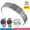 Acessórios pulseira para tudor black heritage bay 79220b 79220r chrono assista bracelete 22mm fecho dobrável de aço inoxidável pulseira