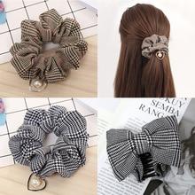 Women Elastic Pearl Hair Rope Ring Tie Scrunchie Ponytail Holder Hair Band Headband Hair Scrunchie Turban Headwear for Female metallic hair scrunchie 3pcs