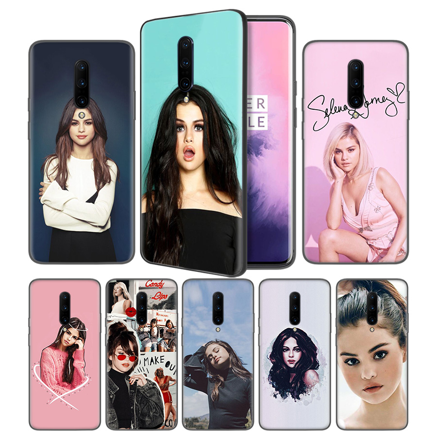 Selena Gomez Soft Black Silicone Case Cover for font b OnePlus b font 6 6T font