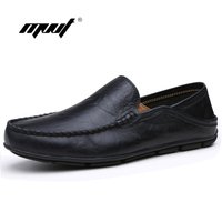 Summer Spring Breathable Genuine Leather Flats Loafers Men Shoes Casual Shoes Luxury Fashion Slip On Driving