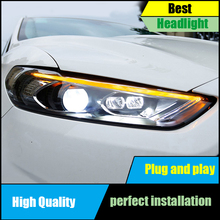 Car styling Head Lamp For Ford Mondeo Fusion Headlights 2013 2014 2015 Headlight Assembly LED DRL Dynamic Turn Signal Light стоимость