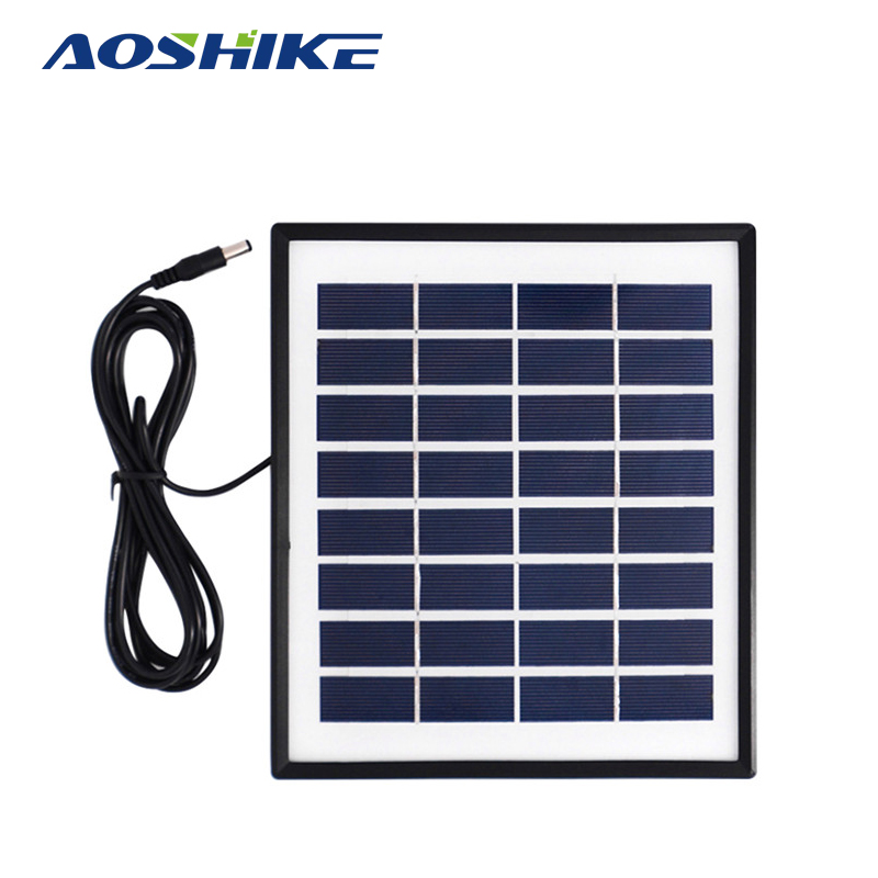Aoshike 8V 4W PolyCrystalline Solar Cells Solar Panel Module <font><b>Battery</b></font> Charger For Caravan Boat Power Applied To DC LED lights