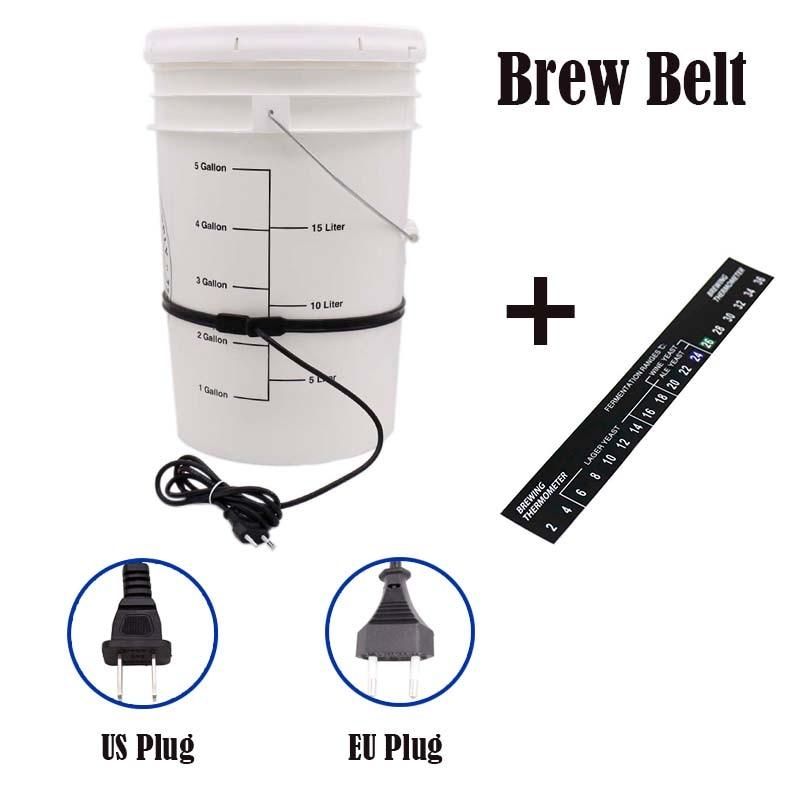 Homebrew Brew Belt Fermentation Heating Belt For Beer Wine Spirits 25Watt Plastic Fermenter Bucket 220V/110V EU/US Plug