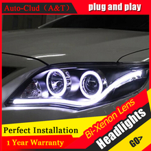 Auto Clud 2011 2013 For toyota corolla headlights Angel Eyes LED light guide DRL For corolla