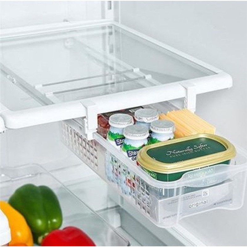 Fridge Mate Refrigerator Pull Out Bin Drawer And Home Organizer Snap On Drawer To Save