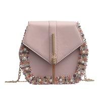 Модная винтажная женская сумка-мешок через плечо сумки для женщин сумки цветы жемчужные сумки на плечо сумка-мессенджер Геометрическая Сум...