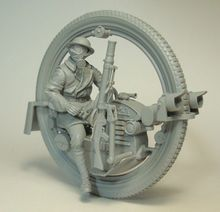 Boyasız kiti 1/35 adam Monowheel moto INLCUDE 7 kafaları şekil tarihi reçine kiti minyatür modeli