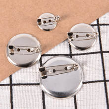 Trays Pins Cameo Base-Setting Brooch with Cabochon 2 20pcs 3cm Blanks