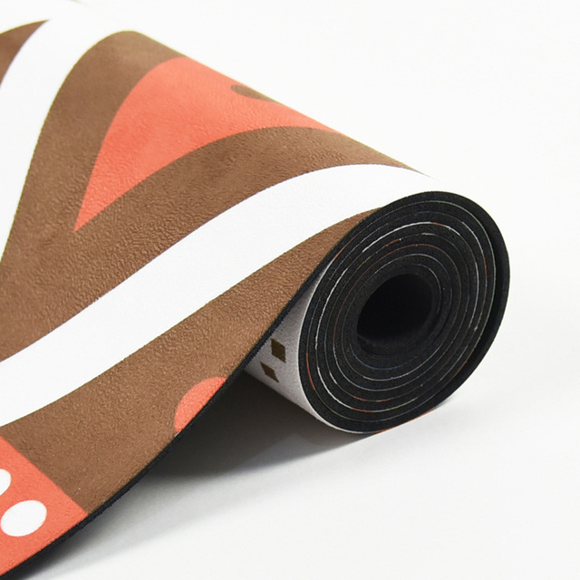 Natural Rubber – Geometric Indian Yoga Mat – 3.5mm
