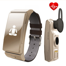 Original Uwatch U20 Umini Smart Bracelet watch Earphone / headset MTK2502 Heart Rate Monitor Bluetooth Fitness Tracker P10