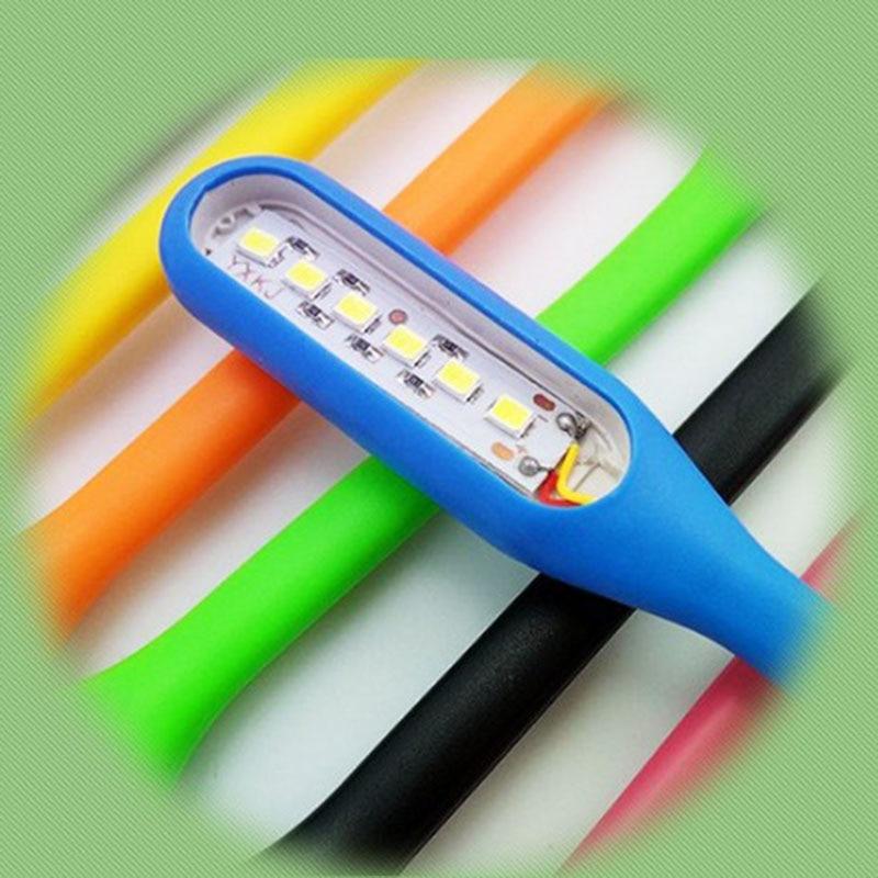 USB Mini Fan USB LED Light Book light Reading Lamp Computer Lamp for Notebook Laptop Reading Light Random Color
