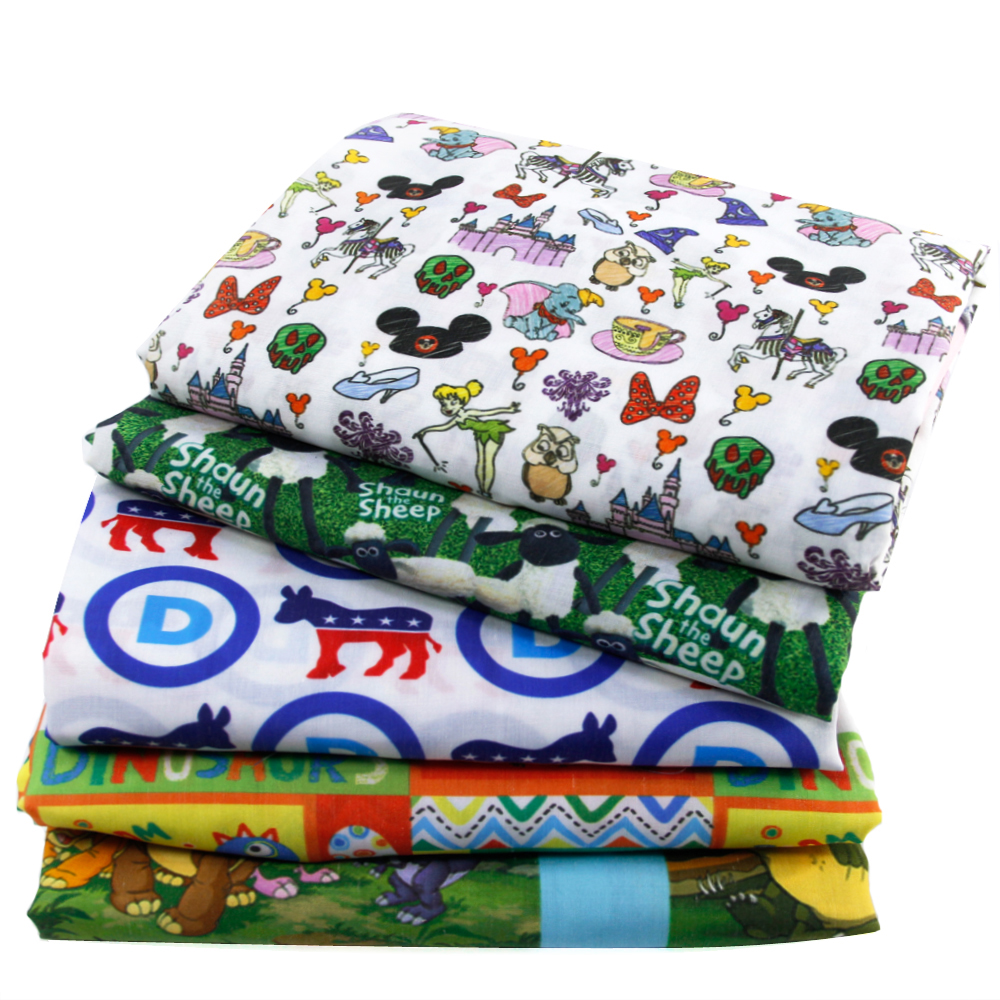 50*145cm animal patchwork printed Polyester&cotton fabric for Tissue Kids Bedding home textile for Sewing Tilda Doll,1Yc421