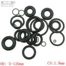 CS 1,9 мм OD 5-120 мм нитрильный каучук уплотнительное кольцо уплотнительное уплотнение автомобиля