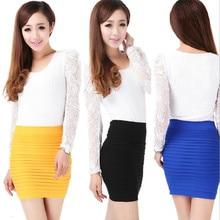 Spring Summer Women High Waist Tight Office Skirt Slim Casual Package Hip Skirt Good Elastic Lady Mini Sexy Pencil Skirts