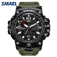 SMAEL Watch Men Water Resistance 50m Digital Military Multifunction Rubber Band Silicone Sports Watches Male Relogio