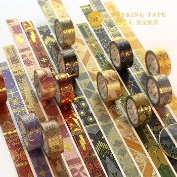 The Arabian Nights Washi Tape Gilding Decorative Adhesive Tape Diy Scrapbooking Sticker Label Craft Masking Tape Office Adhesive Tape