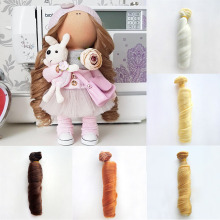 Synthetic Fiber Hair for Dolls BJD 1/3 1/4 1/6 Accessories Wig Kurhn SD Pullip American DIY Doll