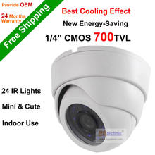 2016 Big Promotion! 700TVL Serveillance Camera 24pcs IR night vision ABS material Dome Color image Indoor Security CCTV Camera