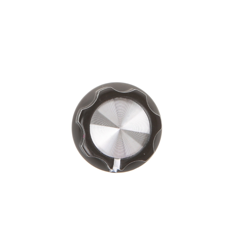 1pc Knob Button 180°D Shaft Half moon Hole Guitar AMP Plum shape Aluminum Cap in Other Parts Accessories from Sports Entertainment
