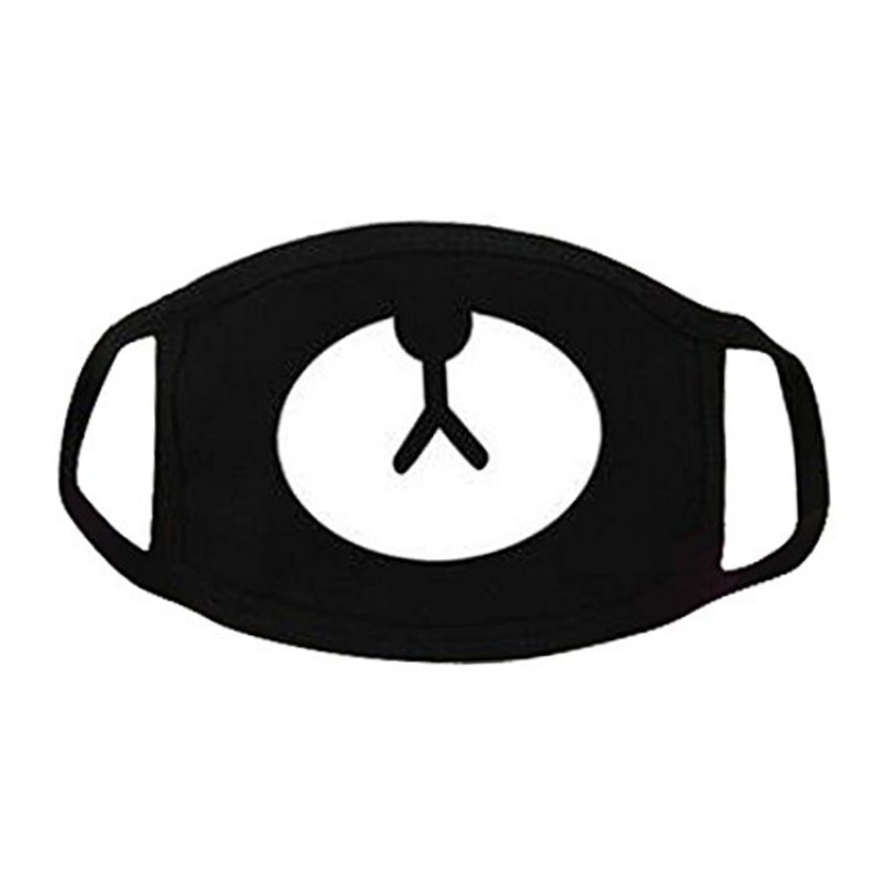 Hot New 1 Pc Unisex Black Cosplay Party Outdoor Cool Anti Dust Cotton Mouth Mask Cute Bear For Men Women High Quality Fashion