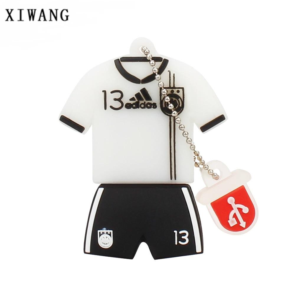 XIWANG Jersey bwin pen drive soccer clothing series flash drive usb memory stick u disk 2.0 4GB 8GB 16GB 32GB 64GB holiday gift цена и фото