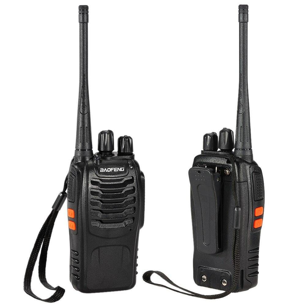 2 Stücke 16ch Fm Uhf 400-470 Mhz Talkie Walkie Transceiver 2-wege-radio Tragbare Handheld Interphone Fern 4200 Mah Taschenlampe Audio Intercom