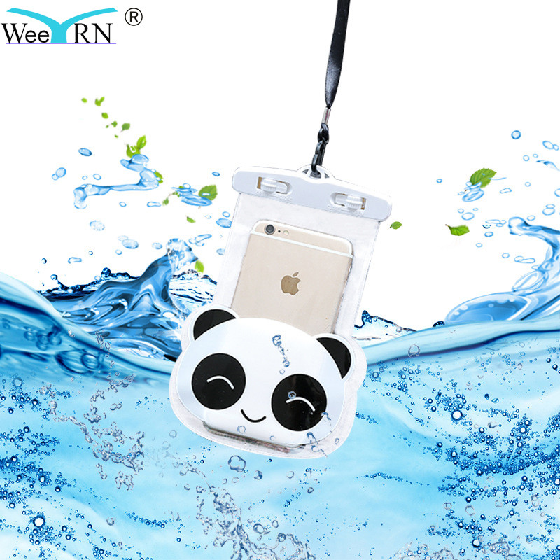 Universal Waterproof Case for iPhone 7 Plus 8 X 5S SE 6 Pouch 3D Cartoon Cover Swim Water Proof Bag for Samsung S8 Xiaomi Redmi
