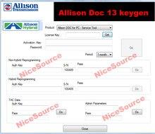 Allison DOC – 13 logiciels universels, avec keygen déverrouillé, installation illimitée, nouveau, 100%