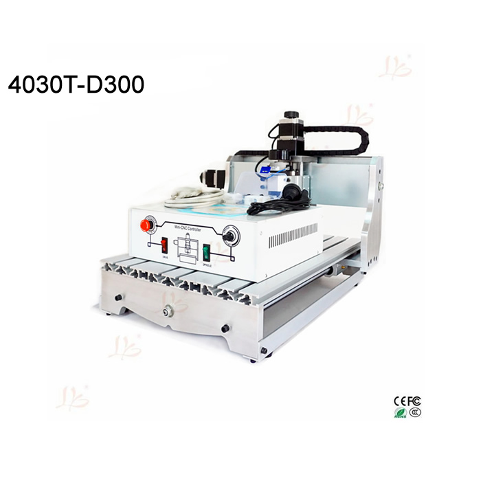 HOT SALE cnc milling machine 3040 300w woodworking engraver 3axis work area 400X300X60mm factory supply cnc 5axis a aixs rotary axis t chuck type for cnc router cnc milling machine best quality