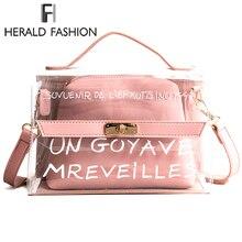 Herald модные женские туфли прозрачная сумочка, ПВХ женские сумки на плечо Желе Пляжная Сумка Популярные Для женщин сумки дизайнер