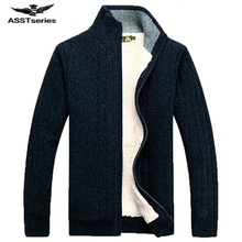 Free Shipping AFS JEEP 2017 Winter Spring New Men's Warm Thick Cardigan Sweater Fashion Tops Coat Men 158