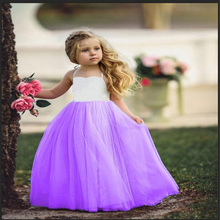 Summer Girl Dress Princess Wedding Party Little Ceremony Flower Lace Child Backless Clothes