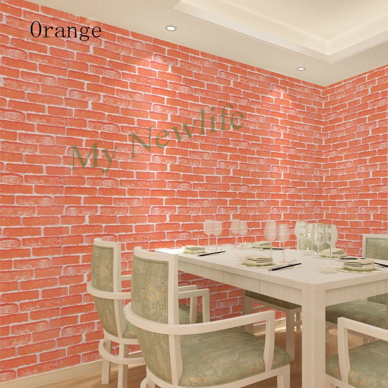 Self Adhesive Wall Paper Wall Rustic Kitchen Living Room TV Background Stone Wallpaper Brick tiles Sticker Home Decor 60 500cm in Wall Stickers from Home Garden