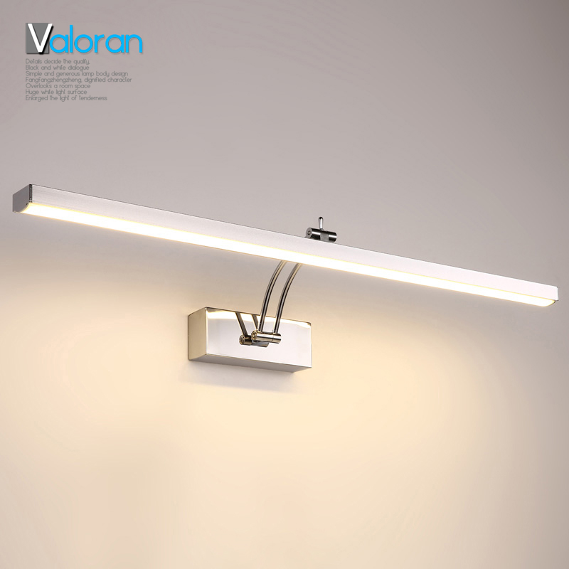 をfreeshipping浴室ledミラーライトac85,265vワイヤレスメイクアップ現代デザイン壁ランプロフトスタイルled屋内照明器具