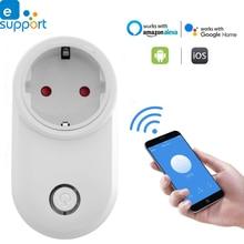 цена на Timethinker Ewelink WiFi Smart Sockets US EU UK Socket Plug Remote Control work for Alexa Echo Google Home pk for Sonoff S20 S26