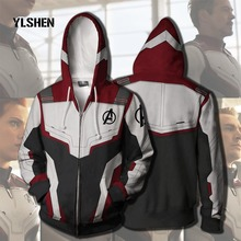 все цены на 2019 Avengers Endgame Jacket Quantum Realm Sweatshirt Advanced Tech Hoodie Cosplay Costumes Superhero Iron Man Cosplay Men Adult