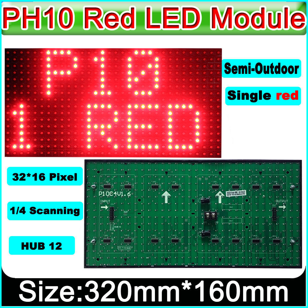 2019 NEW Red P10 Semi-outdoor LED Display Module,Message Board,Brand Sign High Brightness electronic moving text2019 NEW Red P10 Semi-outdoor LED Display Module,Message Board,Brand Sign High Brightness electronic moving text