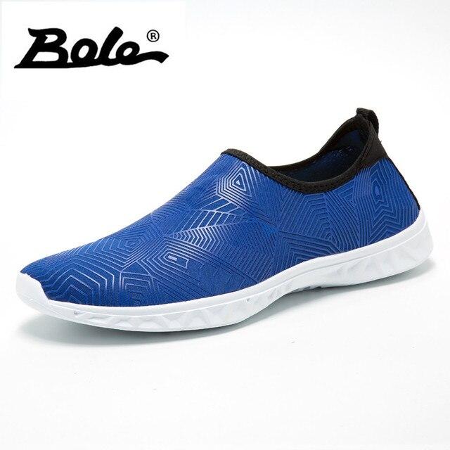 Bole Pria Dapat Bersirkulasi Kasual Sepatu Musim Panas Besar Ukuran 35-46  Pantai Sepatu Datar b363f2d0bf