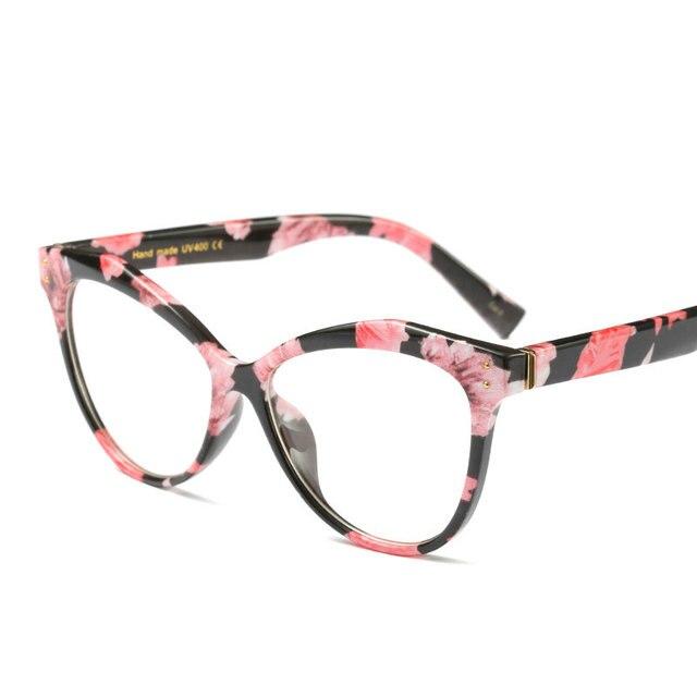 49a2d13c6fa Fashion Women Cat Glasses Frames Cat Clear Eyeglasses Ladies Frame Retro  Women s Glasses Brand Designer lxl