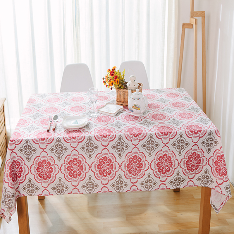 pure linen table cloth coffee tea table cloth embroidery flower window paper-cut home hotel restaurant style deal free shipment