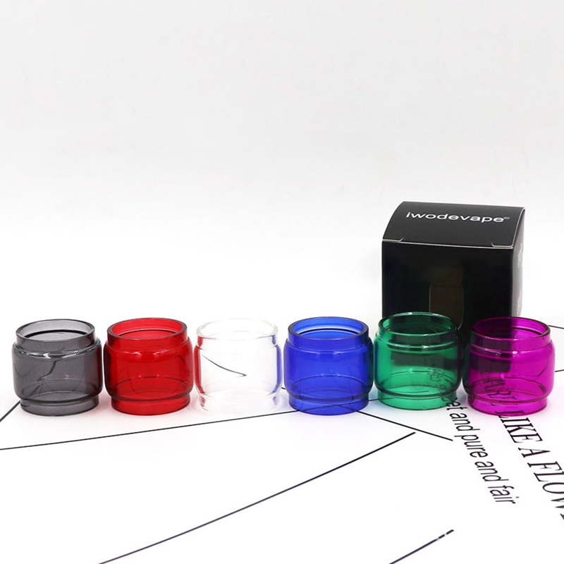 New Arrival Colorful 8ml <font><b>Glass</b></font> Tube <font><b>Bulb</b></font> <font><b>Glass</b></font> Tube 6 Colors For <font><b>TFV12</b></font> <font><b>Prince</b></font> 8ml Atomizer TANK Vape Accessories image