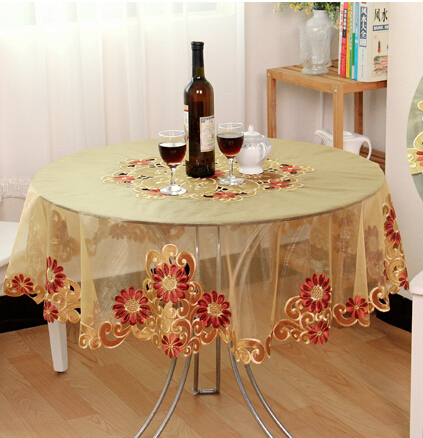 336 107cm 42inch European Garden Round Table Cloth Hotel Cloth Embroidered Tablecloth Voile Beauty Table Mat 0428 Embroidered Tablecloth Round Table Clothtable Cloth Aliexpress