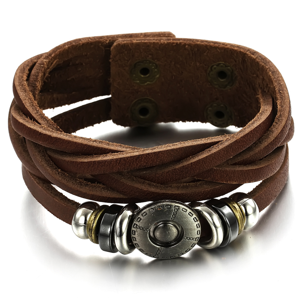 Vintage Men S Las Twist Leather Bracelet Gifts For Male Boys Wrap Pulseira De Couro Ty777 In Charm Bracelets From Jewelry Accessories
