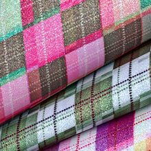 Lychee Life A4 Grid Pattern PU Leather Fabric High Quality Synthetic DIY Sewing Material for Handmade Crafts