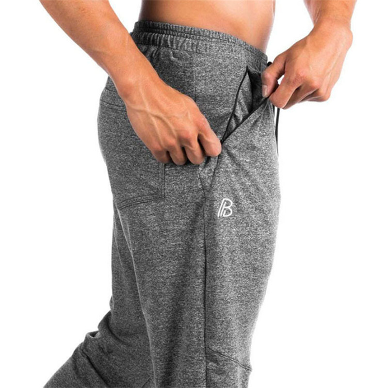 2018 the summer fitness pants of the new brand new summer fitness pants mens elastic pants, gray pull-line underwear new trouse
